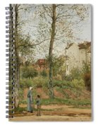 Houses At Bougival  Spiral Notebook