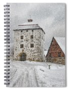 Hovdala Castle Gatehouse In Winter Spiral Notebook