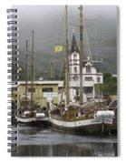 Husavik Harbor Iceland 3660 Spiral Notebook
