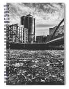 Ice Chunks On The Elbe - Hamburg Spiral Notebook