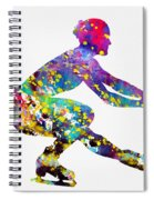 Ice Skater-colorful Spiral Notebook