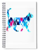 Ice Triangles Cats Spiral Notebook