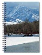 Idaho Winter River Spiral Notebook