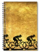 Illustration Of Cyclists Spiral Notebook