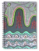 Ilwolobongdo Abstract Landscape Painting Spiral Notebook