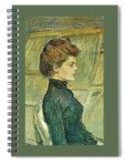 img296 Henri De Toulouse-Lautrec Spiral Notebook
