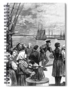 Immigrants On Ship, 1887 Spiral Notebook