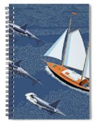In The Company Of Whales Spiral Notebook