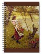 In The Orchard Haylands Graffham Henry Herbert La Thangue Spiral Notebook