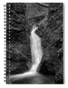 Indian Well Flows Bw Spiral Notebook