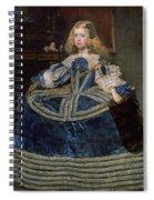 Infanta Margarita Teresa In A Blue Dress Spiral Notebook