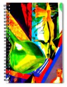 Intersections Abstract Collage Spiral Notebook
