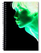 Inverted Realities - Green  Spiral Notebook