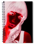 Inverted Realities - Red  Spiral Notebook