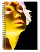 Inverted Realities - Yellow  Spiral Notebook