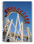 Inverted Roller Coaster Spiral Notebook