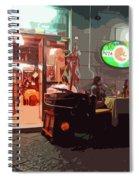 Italian Restaurant At Night Spiral Notebook