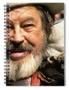 Jack Hendrickson With Pet Burro Helldorado Days Parade Tombstone Az 1980 Spiral Notebook