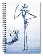Jack With Zero-blue Spiral Notebook