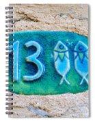 Jaffa, Pisces Zodiac Street Sign  Spiral Notebook