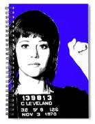 Jane Fonda Mug Shot - Blue Spiral Notebook