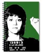 Jane Fonda Mug Shot - Green Spiral Notebook