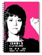 Jane Fonda Mug Shot - Pink Spiral Notebook