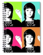 Jane Fonda Mug Shot X4 Spiral Notebook