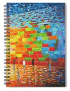 Jerusalem Wailing Wall Original Acrylic Palette Knife Painting Spiral Notebook