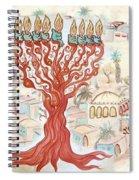 Jerusalem -watercolor On Parchment Spiral Notebook