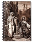 Jesus And The Woman Of Samaria Spiral Notebook