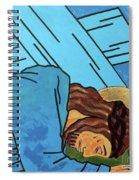 Jesus Falls Spiral Notebook