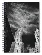 Jet Over Michigan Avenue Spiral Notebook