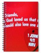 1 John Bible Verse Spiral Notebook