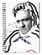 Johnny Cash Man In White Literary Homage Old Tucson Arizona 1971-2008 Spiral Notebook