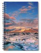 Jokulsarlon Glacier Lake - Iceland Spiral Notebook