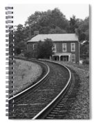 Jonesborough Tennessee - Curved Train Tracks Spiral Notebook