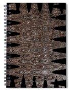 Juniper Tree Bark Abstract Spiral Notebook