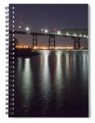 Key Bridge At Night Spiral Notebook