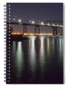Key Bridge At Night Spiral Notebook