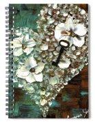 Heart Key Modern Valentines Day Art Spiral Notebook