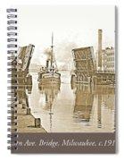 Kilbourn Avenue Bridge, Milwaukee, Wisconsin, 1915-1920, Vintage Spiral Notebook