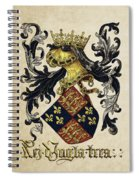 King Of England Coat Of Arms - Livro Do Armeiro-mor Spiral Notebook