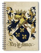 King Of France Coat Of Arms - Livro Do Armeiro-mor  Spiral Notebook