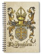 Kingdom Of Jerusalem Coat Of Arms - Livro Do Armeiro-mor Spiral Notebook