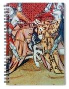 Knights In Tournament Spiral Notebook