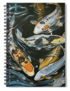 Koi Pond Spiral Notebook