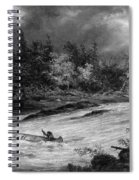 Krieghoff: Canoe On Rapids Spiral Notebook