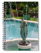 Lady In Fountain Spiral Notebook