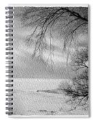 Lake Erie In Winter Spiral Notebook